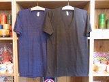 アメリカンアパレル【アメリカ製】霜降りVネックTシャツ 2色 3サイズ(XS/S/M)