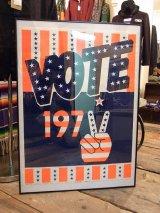 【デッドストック】1972年製/【VOTE 1972】HIP PRODUCTS ベルベットポスター