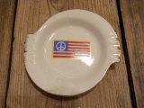 【1970年代】ピースフラッグアシュトレイ (陶器灰皿/日本製)