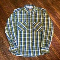 【CAMCO/カムコ・ヘビーフランネル・コットン100%・肉厚ネルシャツ】 ブルーベース・4サイズ(S/M/L/XL)