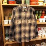 【HEP/エイチイーピー】ヘビーネルシャツ / コットン100% / ブラウンXブラック ベース / シャドーチェック  3サイズ(S/M/L)
