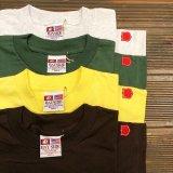 【 BAY SIDE / ベイサイド 】アメリカ製・100%コットン ヘビーウェイト・無地Tシャツ / オリジナルパッチ・4色3サイズ (S/M/L)