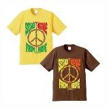 """【 パシフィカ オリジナルプリント Tシャツ """" SEND LOVE FROM ABOVE """" 】 6.2 oz コットン100% Tシャツ 2カラー・5サイズ(S,M,L,XL,XXL)"""
