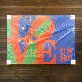 【 (C) 2008 デッドストック 】USPSオフィシャル・ロバートインディアナ・LOVE・ウォールクロック/壁掛け時計・70 X 50 cm