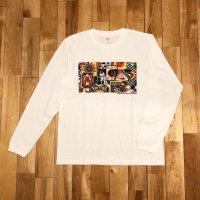 """【 オリジナルプリント L/S Tシャツ """" Panel Of Psychedelic """" 】 7.1 oz コットン100% 長袖Tシャツ ・4サイズ(S,M,L,XL)"""