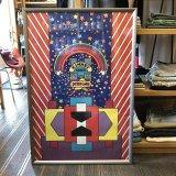 【1960'S-1970'S / KINNEY SHOES ポスター・ピーターマックス 】 オリジナル・ビンテージ・額縁込み 94 X 64 cm