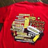 """【2004年 KROQ / オールド Tシャツ】"""" ビースティボーイズ・ストロークス・サイプレスヒル・キラーズ"""" / プリントTシャツ (MEDIUMサイズ)"""